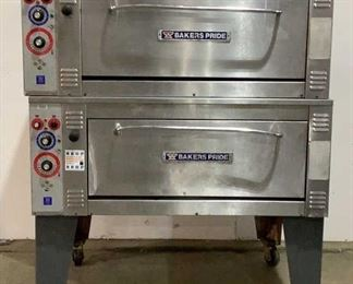 """Located in: Chattanooga, TN MFG Bakers Pride Model ER12-3836 Power (V-A-W-P) 480V - 60Hz - 3Ph Double Decker Pizza Oven Size (WDH) 69""""W x 55""""D x 72""""H **Sold As Is Where Is**  SKU: A-4 Unable To Test"""