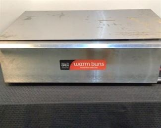 """Located in: Chattanooga, TN MFG APW Wyott Model BW-50 Ser# 818561604018 Power (V-A-W-P) 120V, 50/60Hz, 1Ph, 5A, 600W Bun Warmer Size (WDH) 34-3/4""""Wx24""""Dx10-1/4""""H Knob is missing **Sold As Is Where Is**  SKU: T-8-C Tested-Works"""