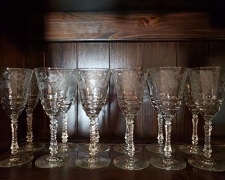 Fine cut glassware