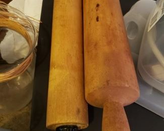 Rolling Pins-One carved out of single piece of wood