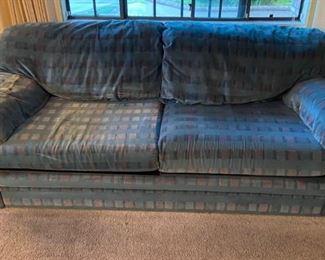 Casual overstuffed sofa