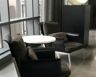 Antonio Citterio Flexform  Pair Happy-hour lounge chairs Was $5000 pair Now $3500 pair