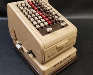 Vintage adding machines