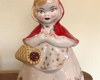 Vintage Little Red Riding Hood cookie jar