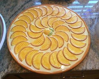 Unusual ceramic platter.