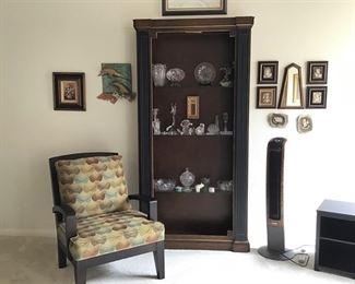 Lighted Display Shelf, New Armchair