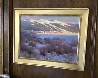 Oil Painting on Linen, Colorado Mountains by George Strickland.