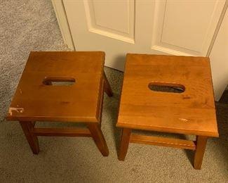 Reproduction Wooden milk stools