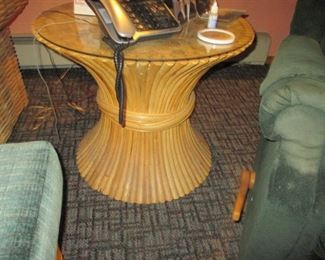 Rare Macy's Bamboo Sofa, Tables Living Room Suite