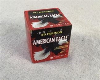 Mfg - (50) Federal American Model - Eagle 230gr 45 ACP FMJ Caliber - Ammo Located in Chattanooga, TN Condition - 1 - New This is a 50 count box of Federal American Eagle 230 grain 45 ACP FMJ ammo, ideal for use at the range.