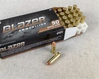 Mfg - (50) Blazer 125gr Model - 38 Special FMJ Ammo Located in Chattanooga, TN Condition - 1 - New This is a 50 count box of Blazer 125 grain 38 Special FMJ ammo, ideal for use at the range.