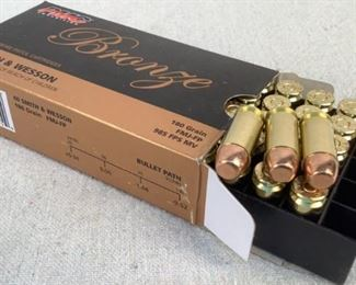 Mfg - (50) PMC Bronze Model - 40 Smith & Wesson Caliber - Ammunition Located in Chattanooga, TN Condition - 1 - New This lot contains one 50 round box of PMC Bronze 40 Smith & Wesson ammunition. 180 grain, full metal jacket, flat point bullet.