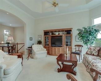 Century entertainment center, Thomasville couch, coffee table
