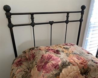 1- $395 pair of twin bed barely slept on with mattresses. Bedding for two twin bed $60