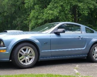 2007 Mustang Gt Premium auto w black leather interior,74,500 miles. VG cosmetic,ex. mechanical condition. Serviced and inspected. Ready to ride. The Mustang will be on site during preview days. Supervised test drives available Sat. July 31st. 10am - 4pm. Come check it out.  It will be sold.