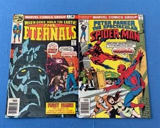 The Eternals #1 - Great condition. Marvel movie coming! Also spectacular Spiderman #1 - 1976. Both comics in excellent condition!