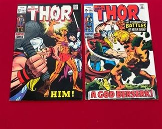 Thor #165 - 166 - First appearance of Adam Warlock (Him!). Marvel movie coming. VERY KEY Bronze age issues. Books are in Excellent condition and very hard to find in higher grades. Currently selling on other sites for over $5,000.