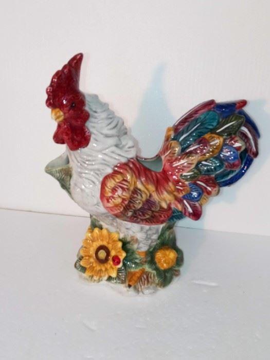 Vintage Ceramic Rooster Pitcher