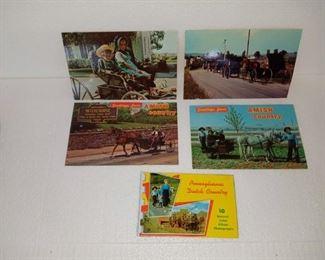 Vintage Amish Postcard Lot