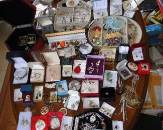 Not all of this jewelry is present, some has been sold