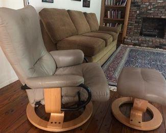 Ekornes ergonomic chair & ottoman