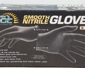 NEW Grower's Edge Smooth Nitrile Gloves Sizes M, L & XL