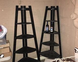 Two corner shelves.