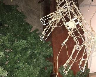 Christmas Tree, various yard decorations.