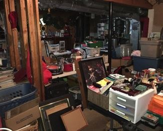 Artwork, dishes, storage receptacles, books, knick-knacks -- You Will Not Believe what is here!