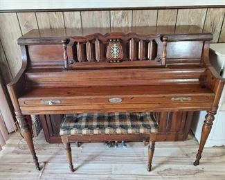 #2052 • Wurlitzer Piano with Seat and Music