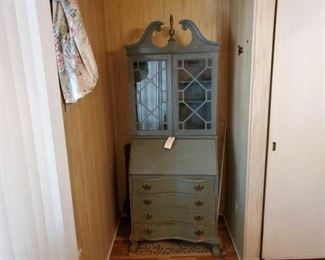 """#2404 • Dresser With Display Cabinet 15.5 x 29.5 x 80"""" inches."""