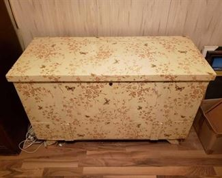 #2108 • Lane Cedar Chest with Floral Wallpaper