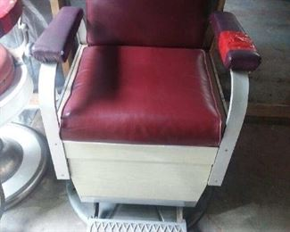 1950's Koken Barber Chair..All mechanical parts are in working order!