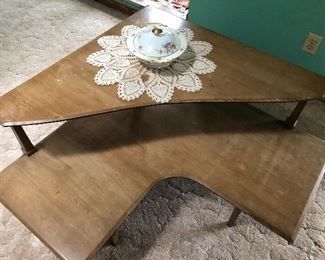 Haywood Wakefield Table with  Cut Out! Super Rare!!