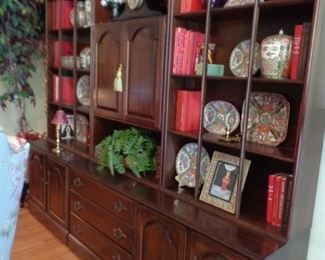 Ethan Allen six piece book and display case