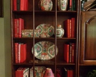 Asian decorative vases and platters