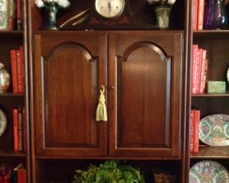 six piece book case and cabinet unit