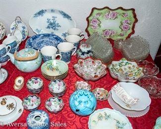 TABLES of Vintage CERAMICS