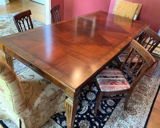 Ethan Allen dining table with leaves