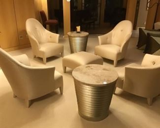 Four Ghost Club Chairs designed by John Hutton for Donghia