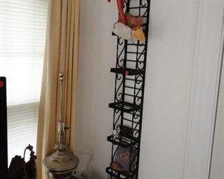 Rack holder, lamp