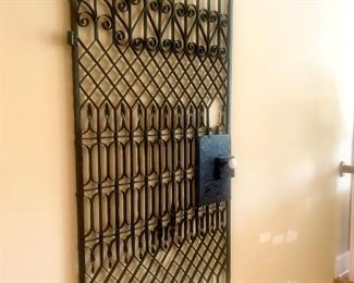 """antique iron gate (approx 6'5"""" by 37"""")"""