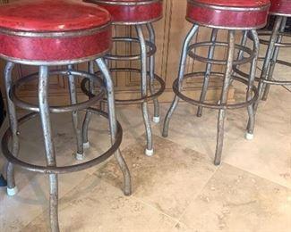 set of 4 vintage barstools