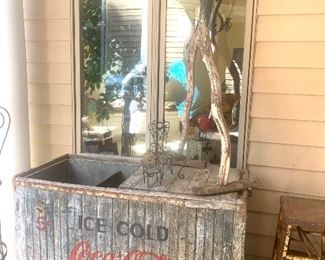 Authentic and vintage Coca-Cola drink cooler