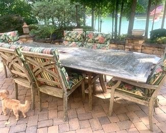 outdoor teak patio furniture by Closter