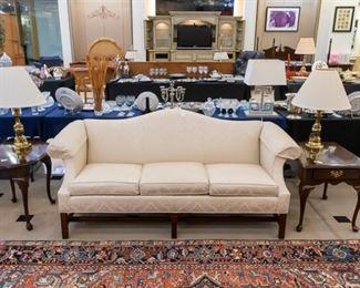 Ethan Allen cream sofa