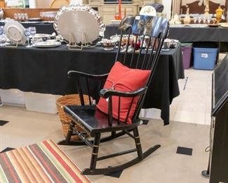 Vintage rocking chair!  Looks really nice with the desk you see pictured on right!