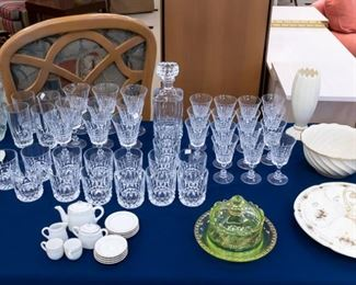Lots of nice kitchenware!  Including crystal and vintage as well.