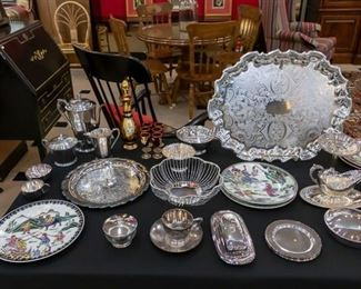 We do have some sterling silver in this sale.  It can be seen in our display case.