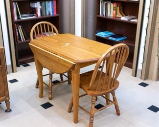 2 person drop leaf table & chairs